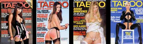 Lary Flynt's Taboo Magazine covers