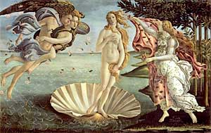 Botticellis Birth of Venus Painting