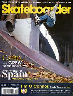 Skateboarder Magazine cover - March 2006