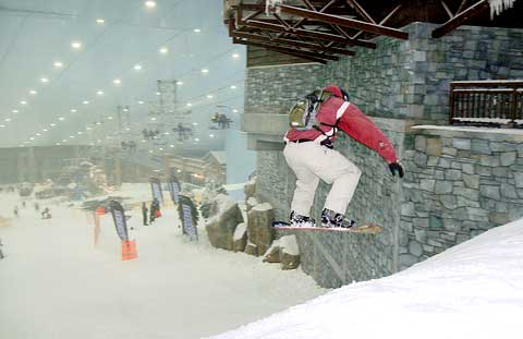 Dubai indoor snowboarding at the mall