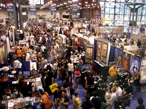 NY Comic Con floor at Javits Center