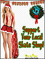 Sexy Santa chistmas Support your local skateboard skate shop flyer girl sylss