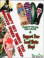chistmas Support your local skateboard skate shop flyer girl sylss