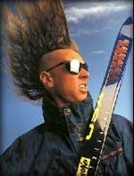 Wild man pro skiier Glen Plake - with mohawk