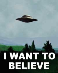 Fox Mulder I want to believe UFO poster
