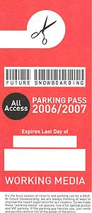 free parking pass - printable size