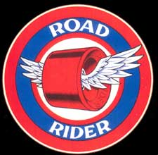Road Rider Wheels Logo by Jim Phillips