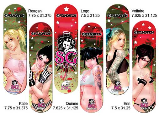 Suicide Girl skateboard decks