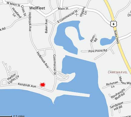 Map of Wellfleet, MA