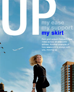 Up her skirt ad campaign