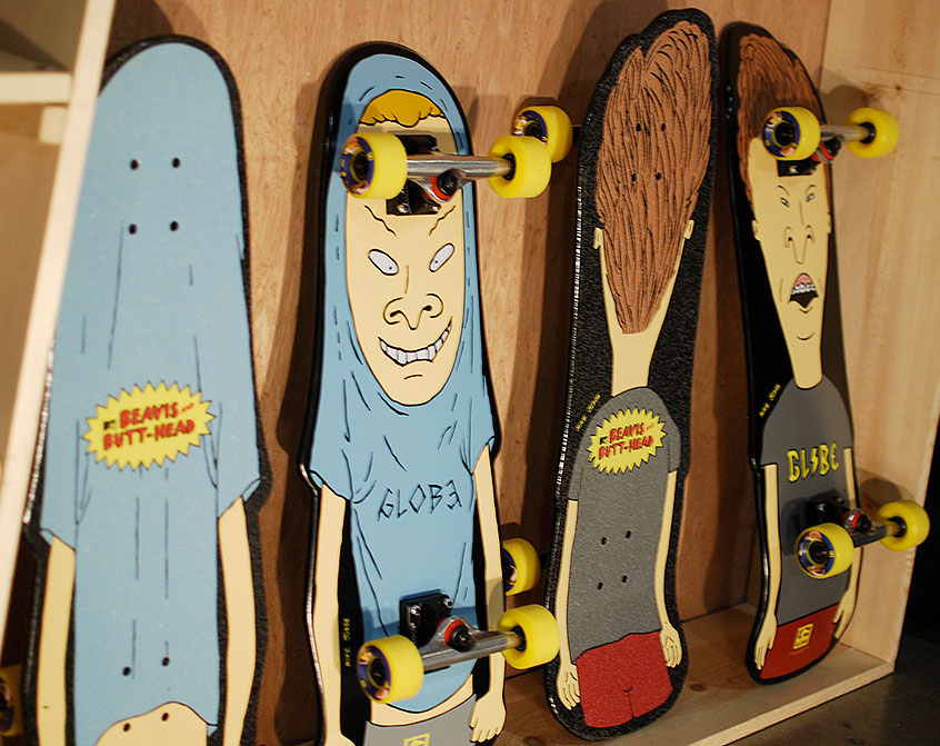 Globe and MTV Beavis & Butt-Head skateboards