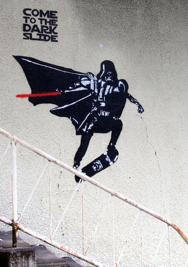 Star Wars Skateboard graffiti
