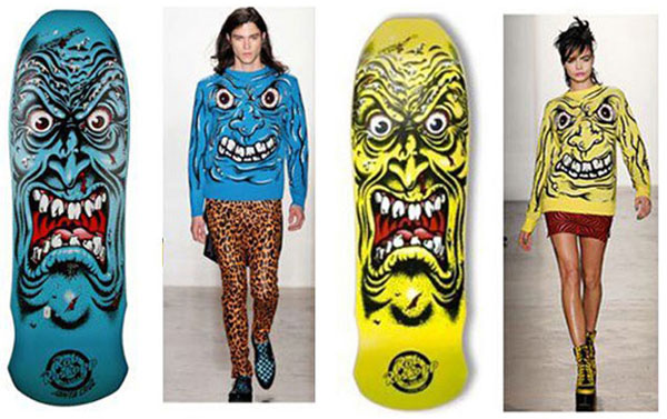 Jeremy Scott's skate-similar offering for Fashion Week