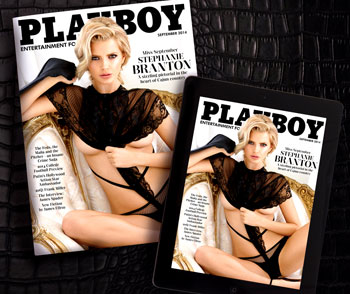 September 2014 cover of Playboy