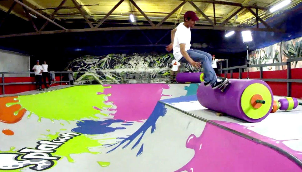 Adrenaline Alley skatepark gets a Splatoon makeover